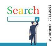 searching concept. modern... | Shutterstock .eps vector #776818093
