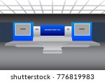 stage 2 screen with many stairs ... | Shutterstock .eps vector #776819983