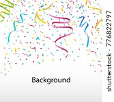 confetti background with... | Shutterstock .eps vector #776822797