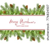 text merry christmas and happy... | Shutterstock .eps vector #776824507