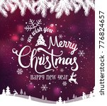 christmas and new year... | Shutterstock .eps vector #776824657
