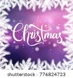 christmas typographical on... | Shutterstock .eps vector #776824723