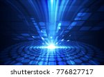 abstract vector blue technology ... | Shutterstock .eps vector #776827717