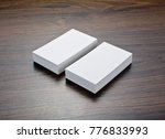 mockup of white business cards...   Shutterstock . vector #776833993
