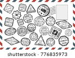 composition with collection of... | Shutterstock . vector #776835973