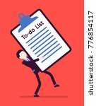 heavy to do list. young busy...   Shutterstock .eps vector #776854117