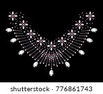 rhinestone applique for t shirt ... | Shutterstock .eps vector #776861743