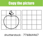 grid copy game  complete the... | Shutterstock .eps vector #776864467