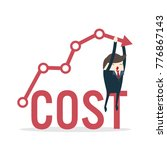 cost reduction concept. cost... | Shutterstock .eps vector #776867143