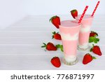 smoothies  strawberries and... | Shutterstock . vector #776871997