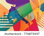 fashion girl in style pop art...   Shutterstock .eps vector #776873437
