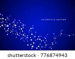 abstract molecule background ... | Shutterstock .eps vector #776874943