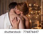 affectionate loving couple is... | Shutterstock . vector #776876647