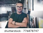 portrait of smiling young man...   Shutterstock . vector #776878747