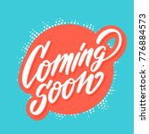 coming soon banner.    Shutterstock .eps vector #776884573