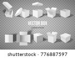 a set of open and closed boxes... | Shutterstock .eps vector #776887597