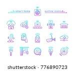 smart home gradient outline...   Shutterstock .eps vector #776890723