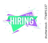 we are hiring colorful poster... | Shutterstock .eps vector #776891137