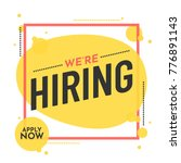 we are hiring poster or banner... | Shutterstock .eps vector #776891143