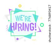 we are hiring colorful poster... | Shutterstock .eps vector #776893417