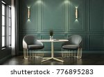 modern classic interior with... | Shutterstock . vector #776895283