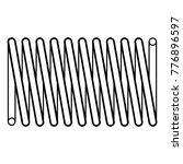 coil spring steel spring  metal ... | Shutterstock .eps vector #776896597