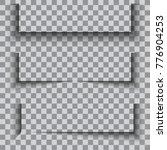 transparent realistic paper... | Shutterstock .eps vector #776904253