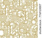 vector seamless pattern in an... | Shutterstock .eps vector #776910007