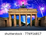 new years firework display over ... | Shutterstock . vector #776916817