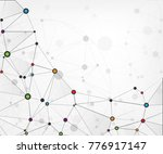global network connections... | Shutterstock .eps vector #776917147