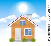 3d realistic house in the... | Shutterstock .eps vector #776918647