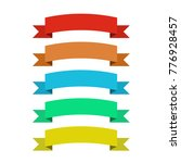 flat vector ribbons banners... | Shutterstock .eps vector #776928457