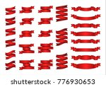 flat vector ribbons banners... | Shutterstock .eps vector #776930653