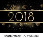 happy new year beautiful golden ... | Shutterstock .eps vector #776933803