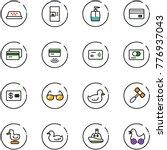 line vector icon set   taxi... | Shutterstock .eps vector #776937043