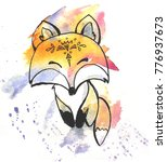hand drawn sketch of a fox with ...   Shutterstock . vector #776937673
