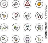 line vector icon set   dog... | Shutterstock .eps vector #776940967