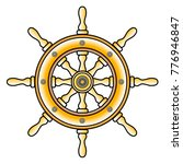 ship wheel isolated vector on... | Shutterstock .eps vector #776946847