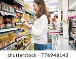 asian beautiful woman buy some... | Shutterstock . vector #776948143