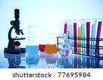 multicolored laboratory | Shutterstock . vector #77695984
