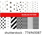 christmas seamless pattern... | Shutterstock .eps vector #776965087