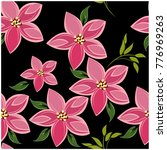 vector seamless pattern flowers ... | Shutterstock .eps vector #776969263