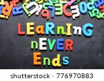 learning never ends words... | Shutterstock . vector #776970883