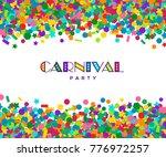 colorful carnival confetti... | Shutterstock .eps vector #776972257