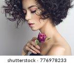 studio fashion photo of... | Shutterstock . vector #776978233