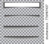 transparent realistic paper... | Shutterstock .eps vector #776987437