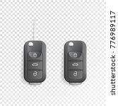 black car remote key. car alarm ... | Shutterstock .eps vector #776989117
