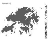 gray map of hong kong. vector... | Shutterstock .eps vector #776989237