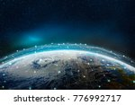 a global social  information... | Shutterstock . vector #776992717