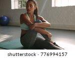 woman resting in between... | Shutterstock . vector #776994157